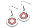 Chisel Stainless Steel Fancy Circle Dangle Earrings style: SRE100