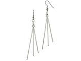 Chisel Stainless Steel Polished Bar Dangle Shepherds Hook Earrings style: SRE1020