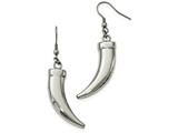 Chisel Stainless Steel Polished Claw Shepherd Hook Dangle Earrings style: SRE1021