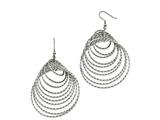 Chisel Stainless Steel Polished Twisted Circles Shepherd Hook Earrings style: SRE1028