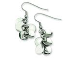 Chisel Stainless Steel Fancy Circle Dangle Earrings style: SRE102