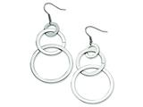 Chisel Stainless Steel Interlocking Circle Dangle Earrings style: SRE108