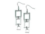 Chisel Stainless Steel Rectangle Dangle Earrings style: SRE110
