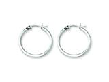 Chisel Stainless Steel 20mm Diameter Hoop Earrings