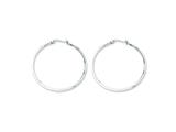 Chisel Stainless Steel 40mm Diameter Hoop Earrings style: SRE117