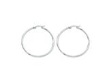 Chisel Stainless Steel 45mm Diameter Hoop Earrings style: SRE118