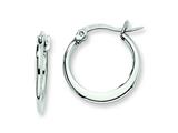 Chisel Stainless Steel 14mm Diameter Hoop Earrings