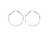 Chisel Stainless Steel 35mm Diameter Hoop Earrings style: SRE121