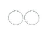 Chisel Stainless Steel 40mm Diameter Hoop Earrings