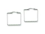 Chisel Stainless Steel 30mm Square Hoop Earrings style: SRE124