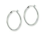 Chisel Stainless Steel 34mm Diameter Oval Hoop Earrings style: SRE128