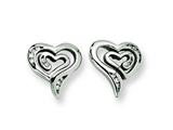 Chisel Stainless Steel CZ Earrings style: SRE142