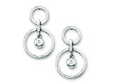 Chisel Stainless Steel CZ Earrings style: SRE145