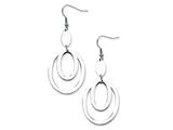 Chisel Stainless Steel Fancy Oval Dangle Earrings