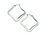 Chisel Stainless Steel Polished Hoop Earrings style: SRE220