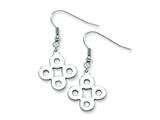 Chisel Stainless Steel Polished Connected Circles Dangle Earrings style: SRE226