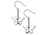 Chisel Stainless Steel Polished Butterfly Dangle Earrings style: SRE260
