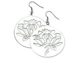 Chisel Stainless Steel Flower Cutout Dangle Earrings style: SRE276