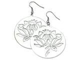 Chisel Stainless Steel Flower Cutout Dangle Earrings style: SRE276