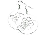 Chisel Stainless Steel Polished Hibiscus Cutout Earrings style: SRE277
