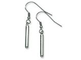 Chisel Stainless Steel Polished Tubular Dangle Earrings style: SRE297