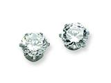 Chisel Stainless Steel 7mm CZ Stud Earrings style: SRE312