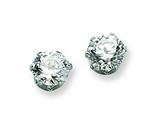 Chisel Stainless Steel 6mm CZ Stud Earrings style: SRE313