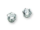 Chisel Stainless Steel 5mm CZ Stud Earrings style: SRE314