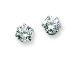 Chisel Stainless Steel 4mm CZ Stud Earrings style: SRE315