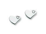 Chisel Stainless Steel CZ Polished Heart Post Earrings style: SRE316
