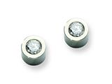 Chisel Stainless Steel CZ Polished Post Earrings style: SRE320
