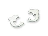 Chisel Stainless Steel Polished Dolphin Post Earrings style: SRE330