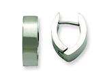 Chisel Stainless Steel Brushed Oval Hinged Hoop Earrings style: SRE368