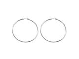 Chisel Stainless Steel Polished 70mm Hoop Earrings style: SRE401