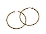 Chisel Stainless Steel Brown Ip Plated 48mm Hoop Earrings style: SRE412