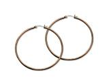 Chisel Stainless Steel Brown Ip Plated 60mm Hoop Earrings style: SRE413