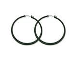 Chisel Stainless Steel Black Ip Plated 55mm Hoop Earrings style: SRE417