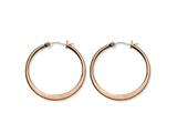 Chisel Stainless Steel Brown Ip Plated 34mm Hoop Earrings style: SRE419