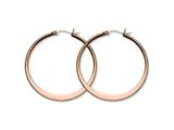 Chisel Stainless Steel Brown Ip Plated 43mm Hoop Earrings style: SRE420