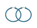 Chisel Stainless Steel Blue Ip Plated 42mm Hoop Earrings style: SRE426