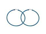 Chisel Stainless Steel Blue Ip Plated 61mm Hoop Earrings style: SRE428