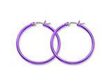 Chisel Stainless Steel Pink Ip Plated 32mm Hoop Earrings style: SRE432