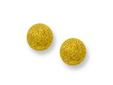 Chisel Stainless Steel Yellow Ip-plated Laser Cut 6mm Bead Post Earrings style: SRE442