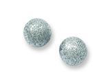 Chisel Stainless Steel Laser Cut 7mm Bead Post Earrings style: SRE447