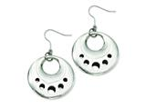Chisel Stainless Steel Polished Circle Cut Out Dangle Earrings style: SRE452