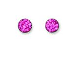 Chisel Stainless Steel Pink Crystal Post Earrings style: SRE480
