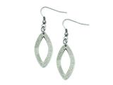 Chisel Stainless Steel Laser Cut Oval Dangle Earrings style: SRE492