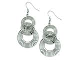 Chisel Stainless Steel Multiple Circle Dangle Earrings style: SRE497