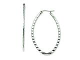 Chisel Stainless Steel Textured Oval Hoop Earrings style: SRE503