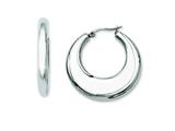 Chisel Stainless Steel 35mm Hollow Hoop Earrings style: SRE504